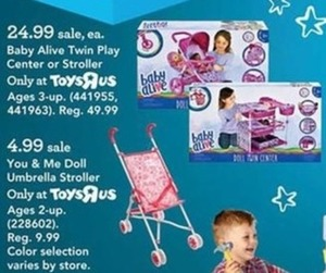 Baby Alive Doll Twin Stroller