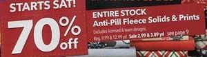 Entire Stock Anti Pill Fleece Solids & Prints