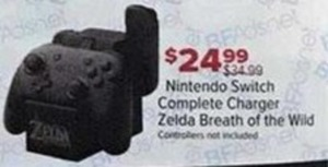 Nintendo Switch Complete Charger Zelda Breath Of The Wild