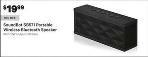 SoundBot SB571 Portable Wireless Bluetooth Speaker