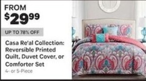 Casa Re'al Collection Reversible Printed Quilt Duvet Cover Or Comforter Set