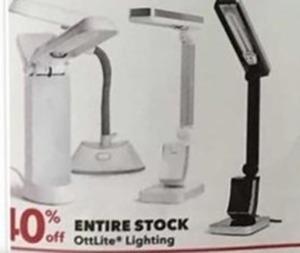 Entire Stock Off Ottlite Lighting
