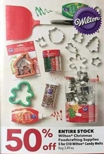 Entire Stock Wilton Christmas Foodcrafting Supplies