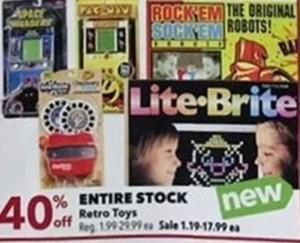 Entire Stock Retro Toys