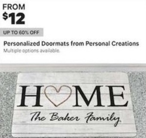Personalized Doormats From Personal Creations