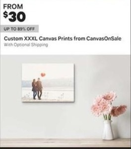 Custom XXXL Canvas Prints from CanvasOnSale