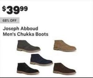 Joseph Abboud Men's Chukka Boots