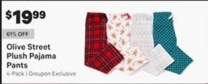 Olive Street Plush Pajama Pants