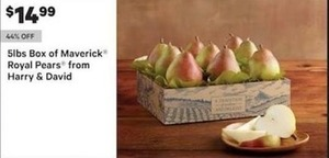 5lbs Box Of Maverick Royal Pears From Harry & David