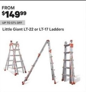 Little Giant Lt 22 Or Lt 17 Ladders