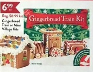 Gingerbread Train Or Mini Village Kits