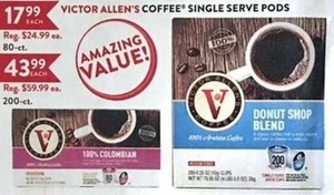 Victor Allen's Coffee Single Serve Pods 200-Ct.