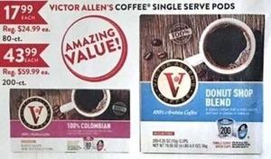 Victor Allen's Coffee Single Serve Pods 200-Ct.