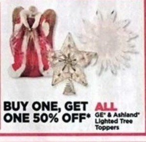 All GE & Ashland Lighted Tree Toppers