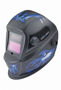 Chicago Welding Auto Darkening Welding Helmet With Blue Flame Design