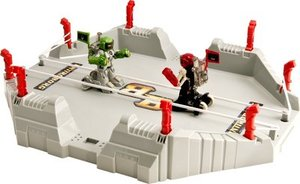 Battroborg 3-in-1 Battle Arena, Green and Red