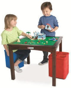Imaginarium LEGO Table with 2 Storage Ottomans - Espresso