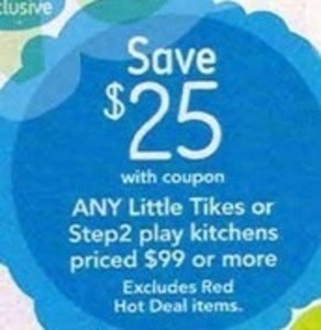 All Little Tikes or Step2 Play Kitchens of $99 or More After Coupon