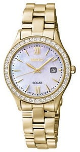 Women's Seiko Solar Gold-Tone Stainless Steel Watch