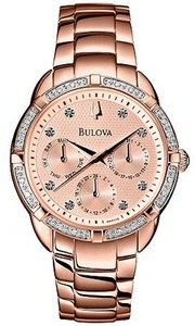 Bulova 98R178 Women's Diamond Accent Rose Gold Watch