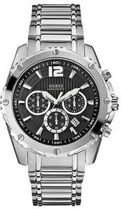 GUESS U0165G1 Men's Chronograph Watch + Free Duffle Bag