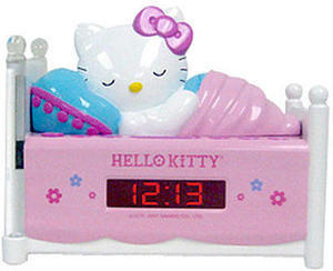 Sleeping Hello Kitty Alarm Clock Radio with Night Light