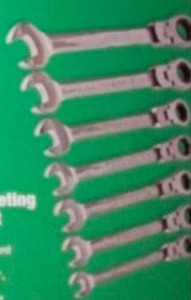 7 Piece Flex-Head Ratcheting Combination Wrench Set