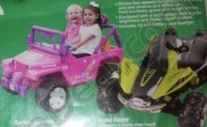Fisher-Price Power Wheels Barbie or Racer