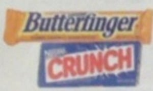 Nestle Butterfinger & Crunch Bars w/ Card