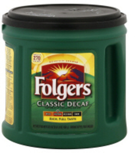 Folgers Decaf Coffee w/ Card