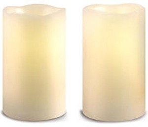 Home Elements 2-Pc. Flameless Candle  w/ Card