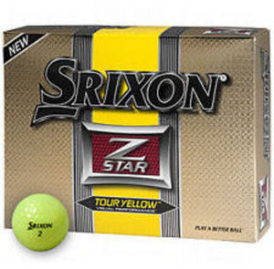 Srixon Z-Star Tour 12-Pack Yellow Golf Balls