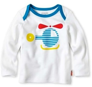 GiggleBaby Long-Sleeve Helicopter Graphic Tee
