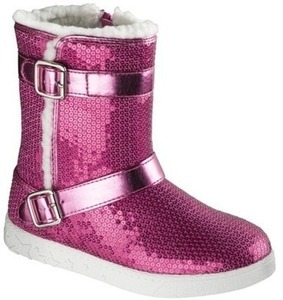 Girls' Sequined Boots