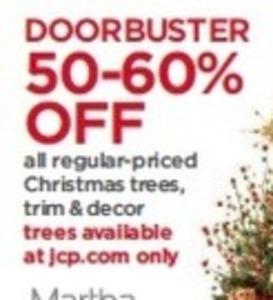 Regular-Priced Chrstmas Trees, Trim and Decor