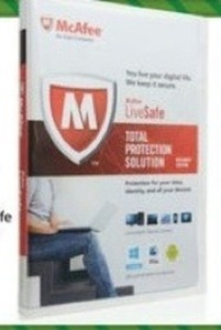 McAfee Antivirus LiveSafe Total Protection Solution
