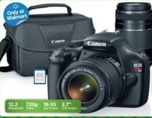 Canon T3 dsLR Bundle w/ Lens & Case