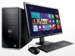 Dell Desktop Tower + 24' HD LED Monitor