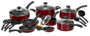 T-Fal Inspirations 20pc Red Nonstick Cookware Set