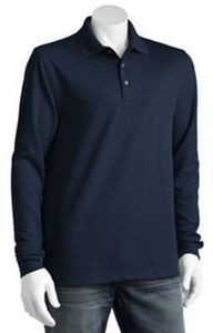 Grand Slame Long-Sleeved Solid Performance Polos