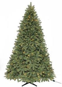 Martha Stewart Living 7.5 ft. Pre-Lit Downswept Denison Artificial Pine Christmas Tree with Clear and Multicolor LED Lights