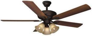 "Hampton Bay Campbell II 52"" Ceiling Fan - Mediterranean Bronze"