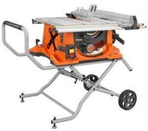 RIDGID 15-Amp 10 in. Heavy-Duty Portable Table Saw with Stand