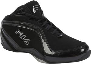 Fila  Men's 3-Point Black High-Top Basketball Shoes