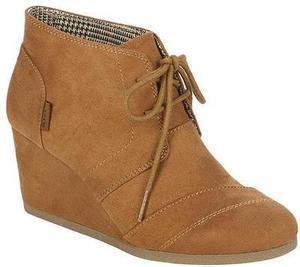 Bongo Women's Wedge Fashion Bootie Josie - Cognac