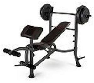 Marcy Standard Weight Bench w/ 80-lb. Weight Set + $5 Back for Members