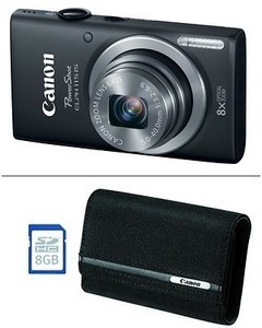 Canon ELPH 115 16MP 8x Zoom Digital Camera Bundle w/ 8GB SD card and bag
