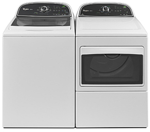 Whirlpool 3.8-cu. ft. Washer & 7.4-cu. ft. Dryer
