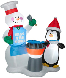 Holiday Living 6-ft. Inflatable Snowman & Penguin Outdoor Decoration