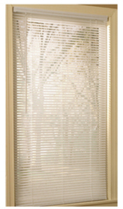 "Project Source 31""x64"" White Vinyl 1"" Slat Mini-Blind"